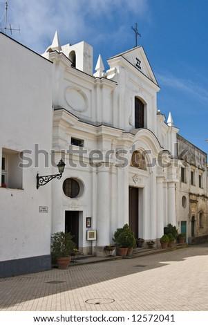 Michele (Saint Michael) church, Anacapri, Capri, Italy - stock photo