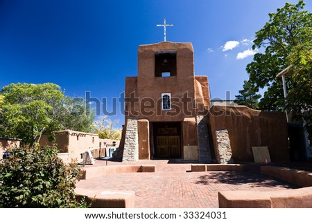 San Miguel Church is the oldest church in the USA, Santa Fe, New Mexico