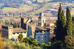 San Nicola former convent of the conventual Franciscans of the city of Alvito of sixteenth-century origins with eighteenth-century renovations,located in the Italian Lazio region