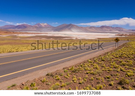 Photo of  San Pedro de Atacama, Antofagasta - Chile. Desert. Andes Range & Route 23 - Miscanti Lagoon & Red Rock