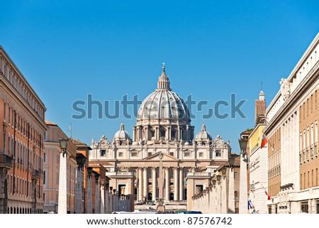 San Peter basilica Rome, Italy.