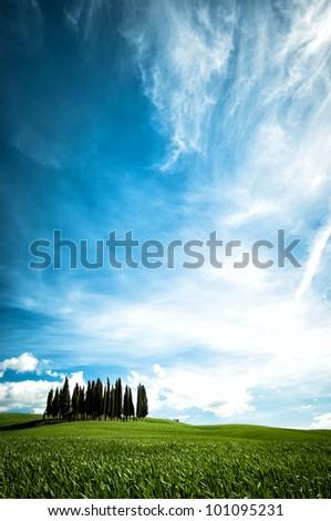 San Quirico d�´Orcia, Tuscany, Italy