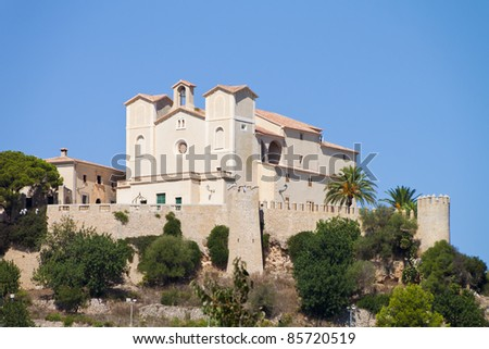 San Salvador Church on a hill in the town of Arta in Mallorca