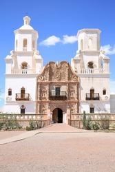 San Xavier del Bac mission near Tucson, Arizona, USA