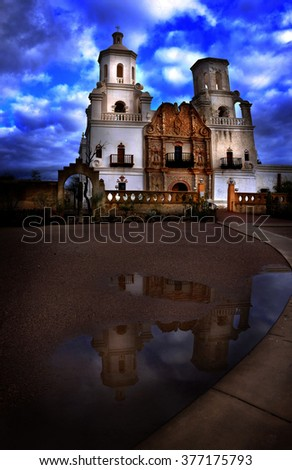 stock-photo-san-xavier-mission-in-tucson
