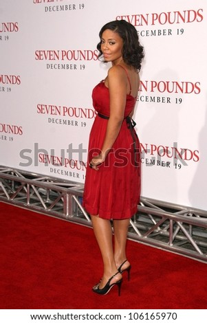 Sanaa Lathan   at the Los Angeles Premiere of 'Seven Pounds'. Mann Village Theatre, Westwood, CA. 12-16-08