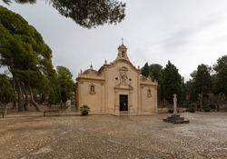 Sanctuary of Our Lady of Grace in the town of Biar province of Alicante, Valencian Autonomous Community, Spain