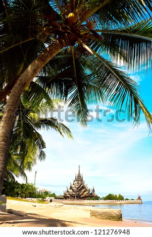 Sanctuary of Truth (also called Wang Boran and Prasat Mai). Pattaya, Thailand.