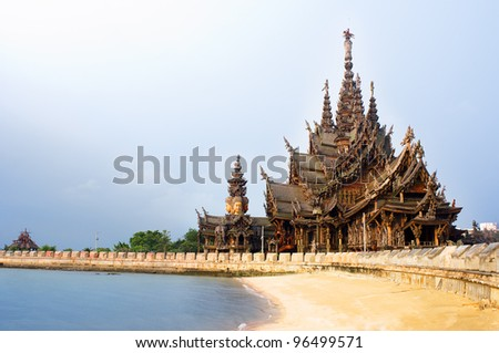 Sanctuary of Truth in Pattaya, Thailand.