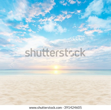 sand and beach with sunset #391424605