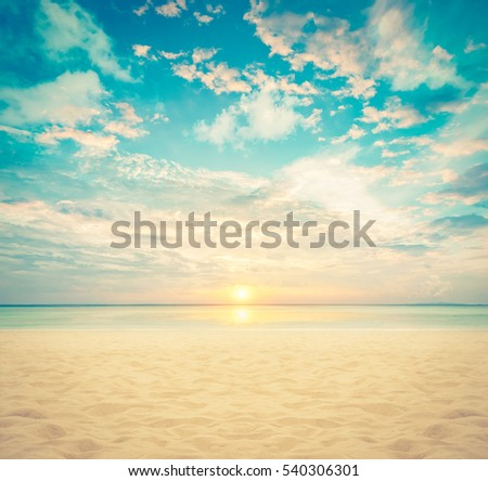 sand and beach with sunset  ...