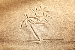 sand and sun background