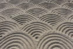Sand art, Japanese Style Wave Pattern.