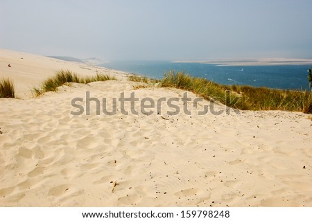 Sand beach in Arcachon , dune of pyla #159798248