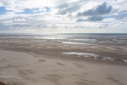 Sand beach in Le Touquet-Paris-Plage, Atlantic ocean, France