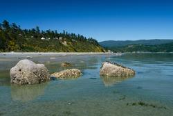 Sand beach on Savary Island in Desolation Sound. Sunshine Coast. British Columbia. Canada