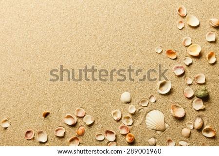 Sand, beach, sea.