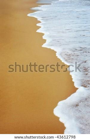 Sand beach water background