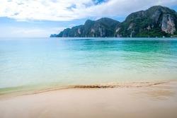 Sand Beaches of Ton Sai Beach on the Phi Phi Island, Krabi, Thailand.