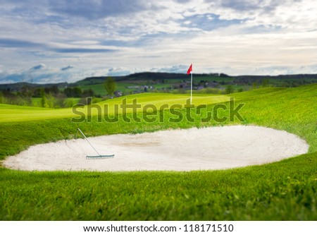 Sand Bunker on a Golfcourse