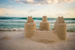 Sand Castle Building at Destin Beach Florida
