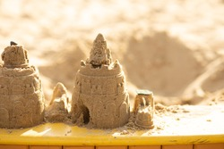 sand castle in the sandbox