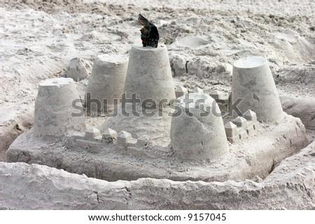 Sand castle on Florida's Gulf Coast. Madeira Beach Florida