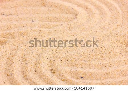Sand close-up - stock photo