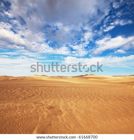 Sand desert - stock photo