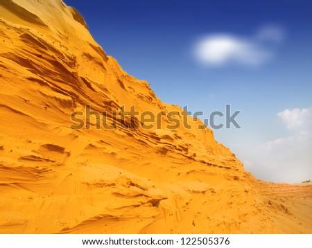 sand desert landscape - stock photo