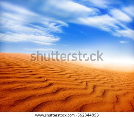 sand desert landscape #562344853