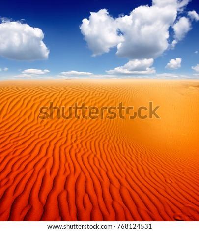 sand desert landscape #768124531