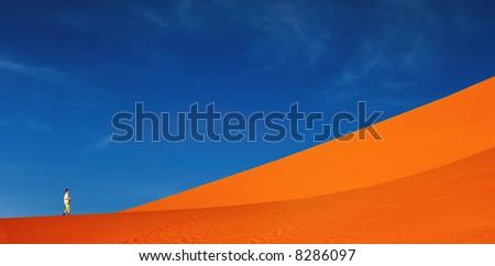 Sand dune climbing, Namib Desert, Sossusvlei, Namibia