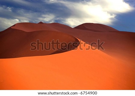 Sand dune, from Namibia