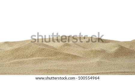 Sand dune on white background