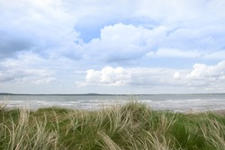 sand dune view of the river shannon in county Kerry Ireland