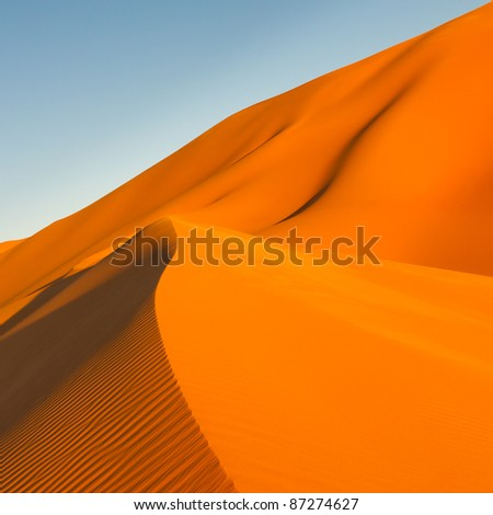 Sand Dunes at Sunset in the Awbari Sand Sea, Sahara Desert, Libya