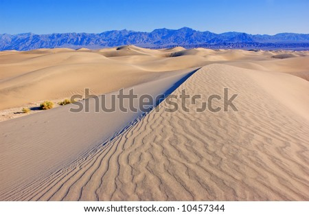 sand dunes in Death Valley - stock photo