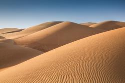 Sand dunes in Liwa desert, in Abu  Dhabi, UAE, at sunrise