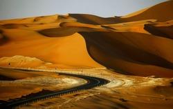 Sand dunes in Liwa, UAE