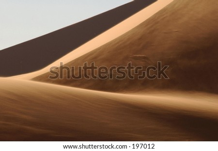 Sand dunes in the desert, Namibia, Africa