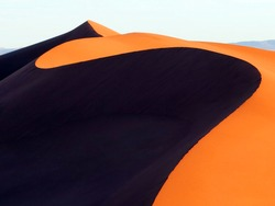 Sand dunes in the Sahara Desert, Merzouga, Morocco, North Africa.