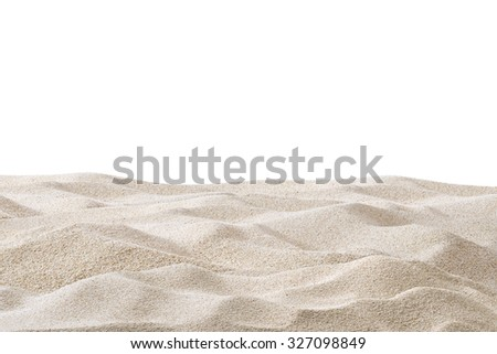Sand dunes isolated on white background #327098849