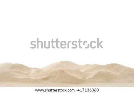 Sand dunes isolated on white background #417136360