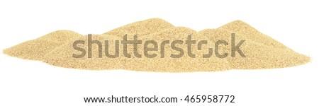 sand dunes isolated on white background #465958772
