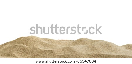 Sand dunes isolated on white background