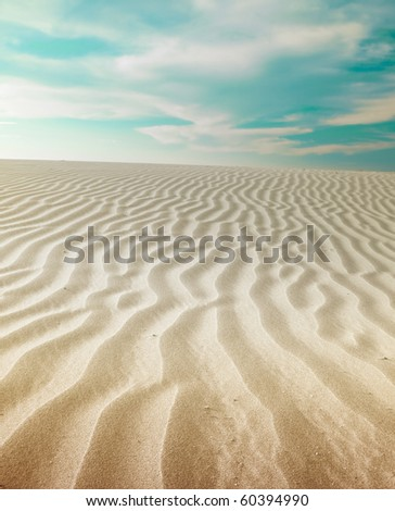 Sand Dunes Landscape - stock photo