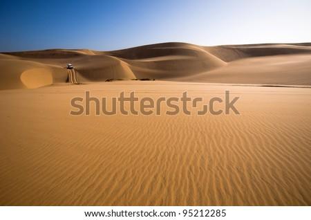 Sand dunes, Namib desert, Sandwich Harbour near Swakopmund, Namibia
