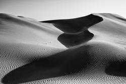 Sand dunes of Nahshalah desert in Abu Dhabi, UAE.