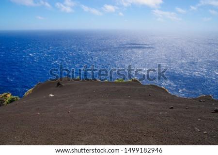 Sand dunes where the black sand of Hachijojima spreads #1499182946
